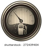 Retro Stained Fuel Gauge ...