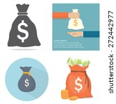 money bag | Shutterstock .eps vector #272442977