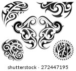 maori tattoo set | Shutterstock .eps vector #272447195