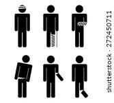 a variety of injuries. broken... | Shutterstock .eps vector #272450711