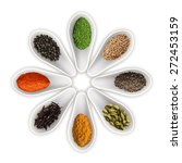 spices in the spoons isolated... | Shutterstock .eps vector #272453159
