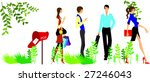 people are on the way to office. | Shutterstock .eps vector #27246043