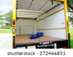empty yellow moving truck with... | Shutterstock . vector #272466851