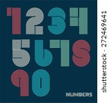 retro stripes funky numbers set ... | Shutterstock .eps vector #272469641
