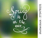 vector hand lettered typography ... | Shutterstock .eps vector #272478131
