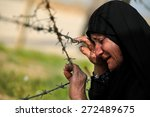 Crying Woman In War