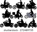 motorcycle riders vector... | Shutterstock .eps vector #272489735