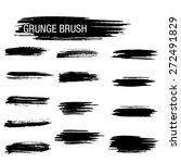 vector set of grunge brush... | Shutterstock .eps vector #272491829