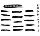 vector set of grunge brush... | Shutterstock .eps vector #272491871
