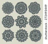 set of decorative rosettes.... | Shutterstock .eps vector #272493449