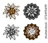 edelweiss flower symbol...   Shutterstock .eps vector #272495699