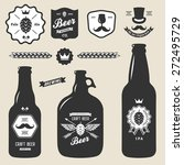 set of vintage craft beer... | Shutterstock .eps vector #272495729