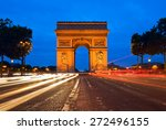 arc de triomphe at the champs... | Shutterstock . vector #272496155