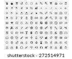 vector black 130 web icons set... | Shutterstock .eps vector #272514971