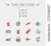 food and drink thin line icon... | Shutterstock .eps vector #272518037