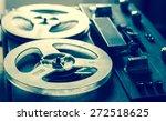 old portable reel to reel tube...   Shutterstock . vector #272518625