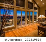 living room with amazing sunset ... | Shutterstock . vector #272519519