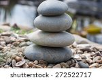 stone pyramid on the lake's... | Shutterstock . vector #272522717