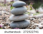 stone pyramid on the lake's... | Shutterstock . vector #272522741
