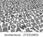 letters of the english alphabet.... | Shutterstock . vector #272523851