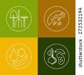 organic food  eco  bio farming  ...   Shutterstock .eps vector #272532194