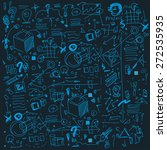 doodle vector business... | Shutterstock .eps vector #272535935