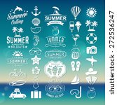 summer logotypes set. summer... | Shutterstock .eps vector #272536247