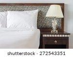 Stock photo lamp in bedroom 272543351