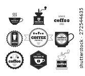 set of coffee emblems  badges ... | Shutterstock .eps vector #272544635