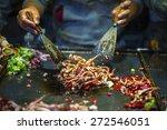 Chinese Chef Making Iron Squid...