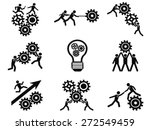 men teamwork gears pictogram... | Shutterstock .eps vector #272549459