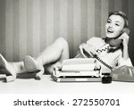 Stock photo humour secretary old fashioned 272550701
