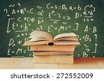 image of school books on wooden ... | Shutterstock . vector #272552009