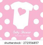 Stock vector vector baby shower with baby clothes 272556857