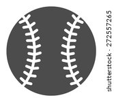baseball flat icon for sports...