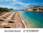 beach near the island sveti... | Shutterstock . vector #272558009