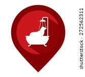 red map pointer icon with dog... | Shutterstock . vector #272562311
