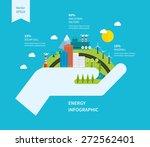 flat green energy  ecology  eco ...   Shutterstock .eps vector #272562401
