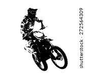 rider participates motocross... | Shutterstock .eps vector #272564309