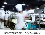 modern kitchen and busy chefs... | Shutterstock . vector #272565029