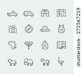 vector safari icon set in...