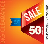 sale shopping background and... | Shutterstock .eps vector #272568005