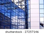 business building on blue sky... | Shutterstock . vector #27257146