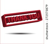 thank you 3d vector icon | Shutterstock .eps vector #272573879