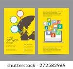 vector flyer   brochure... | Shutterstock .eps vector #272582969
