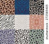 seamless animal skin pattern | Shutterstock .eps vector #272585405