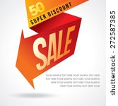 sale shopping background and... | Shutterstock .eps vector #272587385