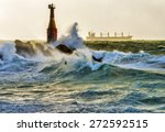 Lighthouse In A Storm.
