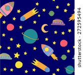 colorful doodle pattern with... | Shutterstock .eps vector #272595494
