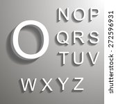 bevel font with shadow in eps 10 | Shutterstock .eps vector #272596931